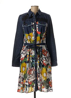 Robe mi-longue bleu DESIGUAL pour femme