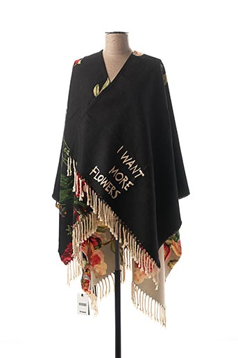 Poncho noir DESIGUAL pour femme