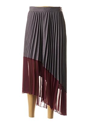 Jupe longue gris DIXIE pour femme
