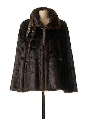 Manteau court marron RINO & PELLE pour femme