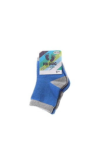 Chaussettes bleu PIK OUIC pour garçon