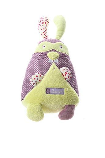 Doudou violet SAUTHON pour enfant