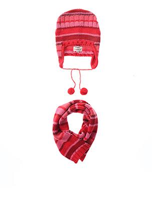 Bonnet rouge P'TITES CANAILLES pour fille