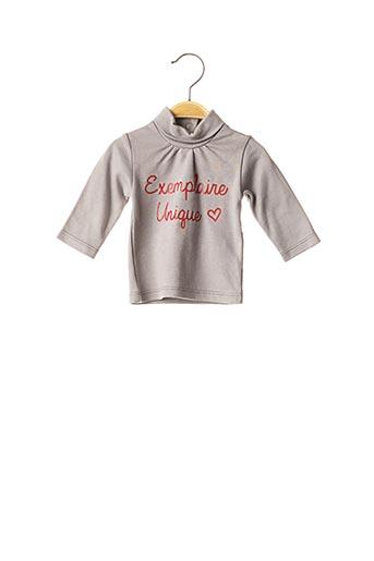 T-shirt manches longues gris BULLE DE BB pour fille