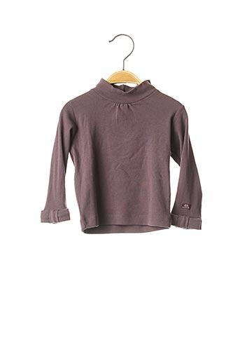 T-shirt manches longues violet LILI GAUFRETTE pour fille