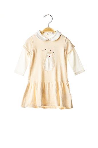 Robe mi-longue beige OBAIBI pour fille