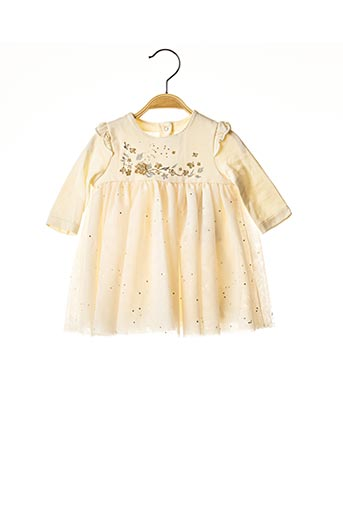 Robe mi-longue beige PETIT BATEAU pour fille
