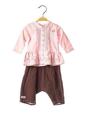 Top/pantalon rose LES BEBES SONT COMME CA ! pour fille