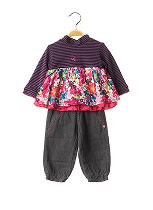 Top/pantalon violet ABSORBA pour fille