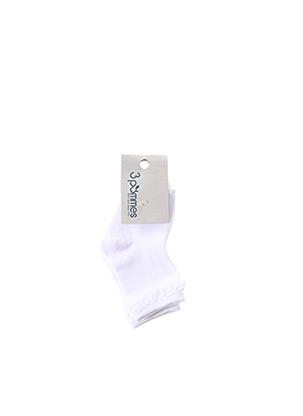 Chaussettes blanc 3 POMMES pour fille