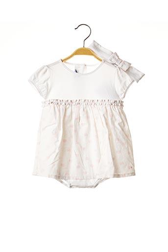 Robe mi-longue blanc ABSORBA pour fille