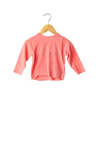Pull col rond rose ABSORBA pour fille