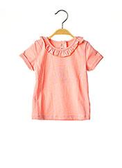 T-shirt manches courtes orange ABSORBA pour fille seconde vue