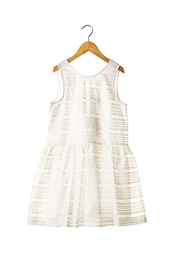 Robe mi-longue blanc JEAN BOURGET pour fille