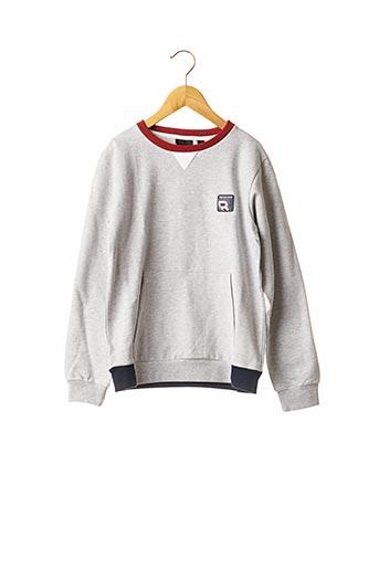 Sweat-shirt gris BECKARO pour enfant