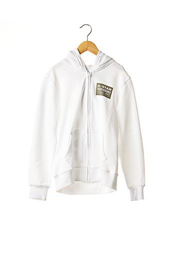 Veste casual blanc G STAR pour garçon