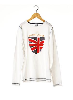 T-shirt manches longues blanc 3 POMMES pour garçon
