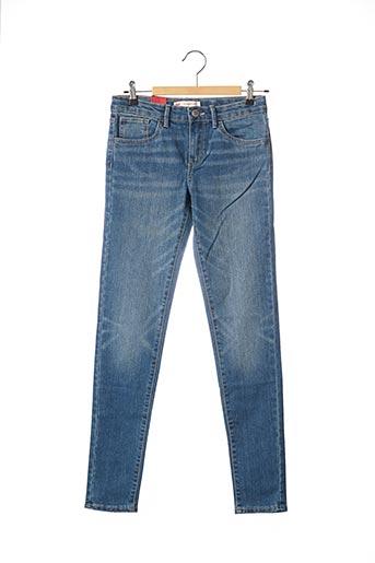 Jeans skinny bleu LEVIS pour fille