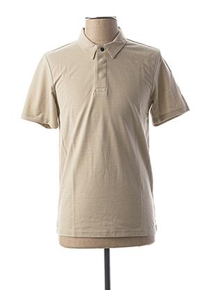 Polo manches courtes beige PREMIUM DE JACK AND JONES pour homme