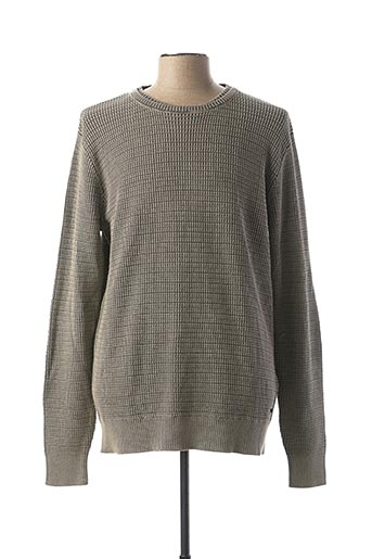 Pull col rond gris GARCIA pour homme