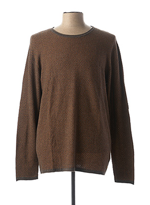 Pull col rond jaune GARCIA pour homme