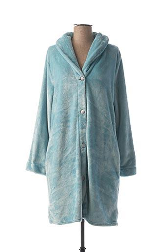Robe de chambre bleu LE CHAT pour femme
