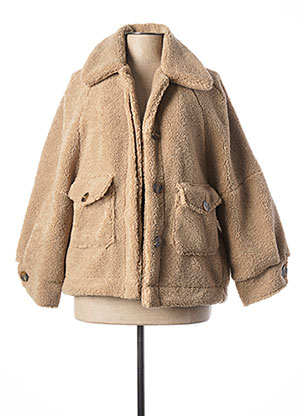 Manteau court beige LA FEE MARABOUTEE pour femme