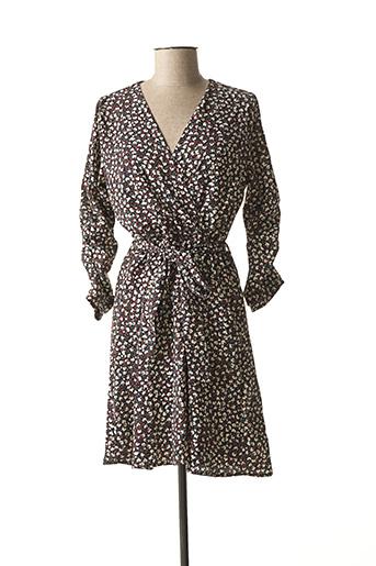 Robe courte noir LA FEE MARABOUTEE pour femme