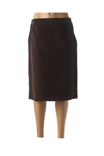 Jupe mi-longue marron EL VERTIGO pour femme