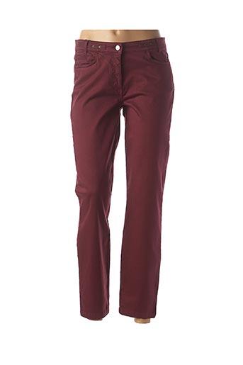Pantalon 7/8 rouge THALASSA pour femme