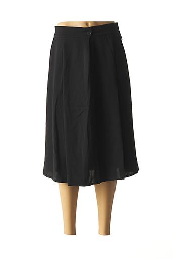 Jupe mi-longue noir HIGH pour femme