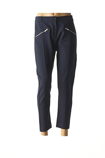 Pantalon 7/8 bleu FRENCH TERRY 1818 pour femme