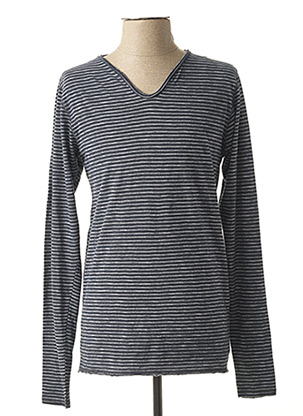 T-shirt manches longues bleu DSTREZZED pour homme