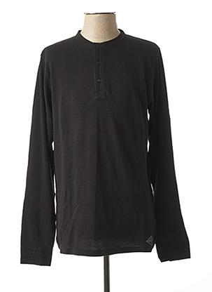 T-shirt manches longues noir DSTREZZED pour homme