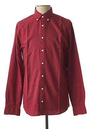 Chemise manches longues rouge TOMMY HILFIGER pour homme