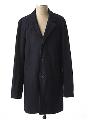 Manteau long bleu DSTREZZED pour homme