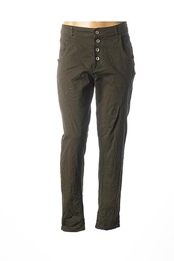 Pantalon casual vert C'MELODIE pour femme