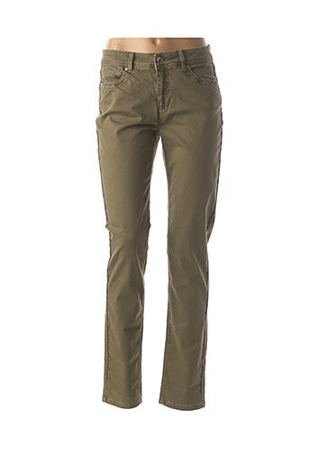 Pantalon casual vert JENSEN pour femme