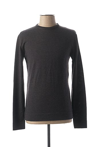 Pull col rond gris CABANE pour homme