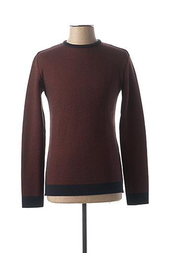 Pull col rond rouge CABANE pour homme