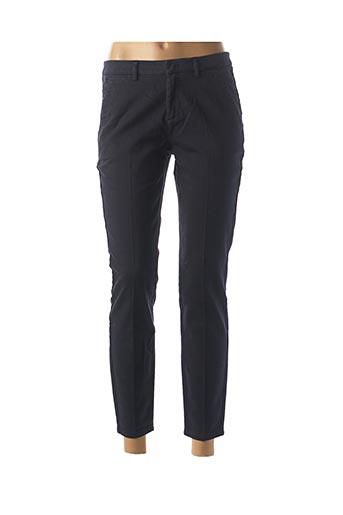 Pantalon 7/8 bleu YAYA pour femme
