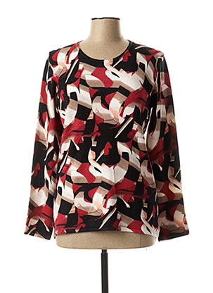 Pull col rond rouge CHRISTINE LAURE pour femme