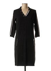 Robe mi-longue noir CHRISTINE LAURE pour femme seconde vue