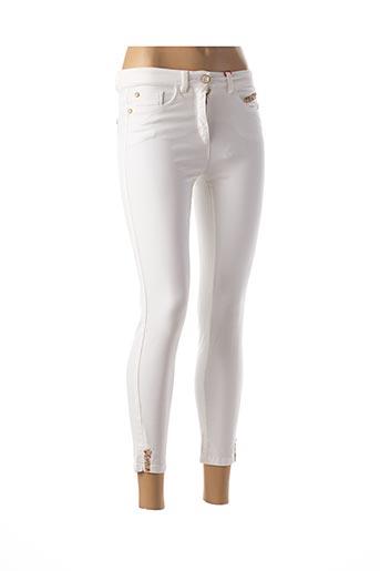 Jeans coupe slim blanc JOCAVI pour femme
