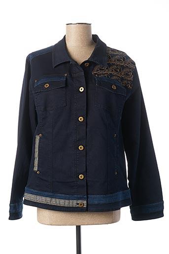 Veste en jean bleu FRED SABATIER pour femme