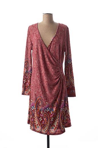 Robe mi-longue rouge PALME pour femme