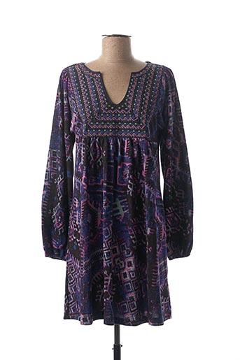 Robe mi-longue violet PALME pour femme