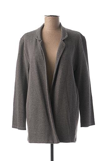 Veste casual gris CODIGO pour femme