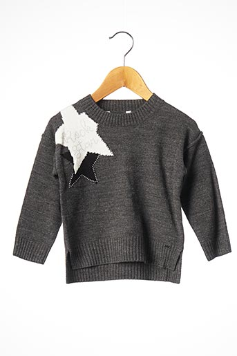 Pull col rond gris MAYORAL pour fille