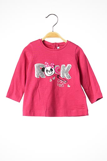 T-shirt manches longues rose MAYORAL pour fille